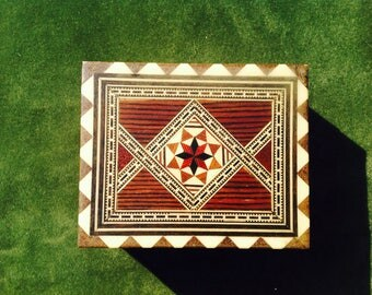 Marquetry inlaid box