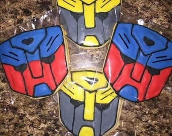 12 Transformer Inspired Cookies