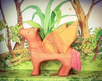 Pegasus. Waldorf wooden toy.