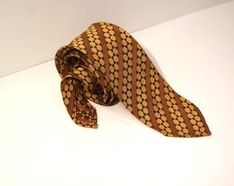 Vintage Skinny Tie 60s, Dotty Necktie, Narrow Necktie 1960s