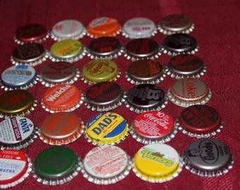 Vintage Bottle Caps - Set of 30 - Different Styles, different brands - Lot 2