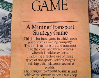 1972 Edition of Mine a Million Business Game