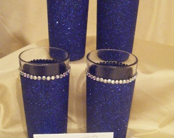Bridesmaid / Flowergirl Glittered Tumbler Glass