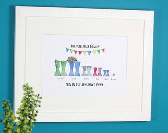 Personalised Spring & Summer Boot Family Print