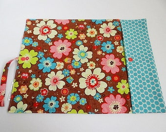 Last chance! Lunch placemat with clip - flowers and owls - placemat roll