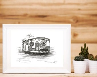 Houseboat Print
