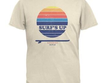 Surf's Up Hanalei Bay Hawaii Mens T Shirt