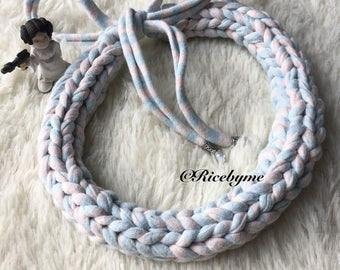 Pastel Lollipop Hand knitted Necklace