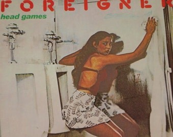 Foreigner vinyl record album, Head Games vintage vinyl record