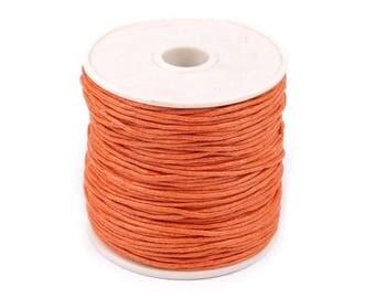 5 meters gewachste cotton cord 0, 5 mm Orange