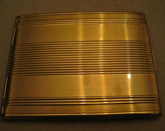 Un Used Elgin American Cigarette Case Goldtone Metal Also Use As Credit Card Case Wallet Compact Vintage