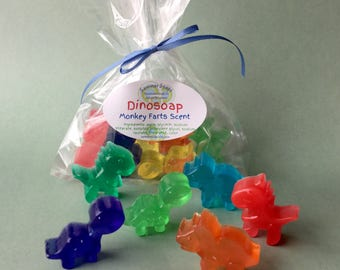 Mini Dinosaur Soaps for Boys, Soap for Kids or Party Favors, Handmade Soap for Kids to Make Bathtime Fun, Boys Soap