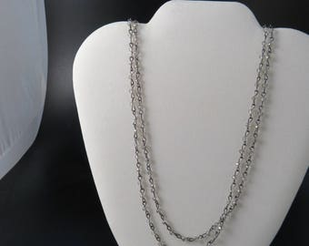 Double 3mm Smokey Quartz Colored Crystal Chain