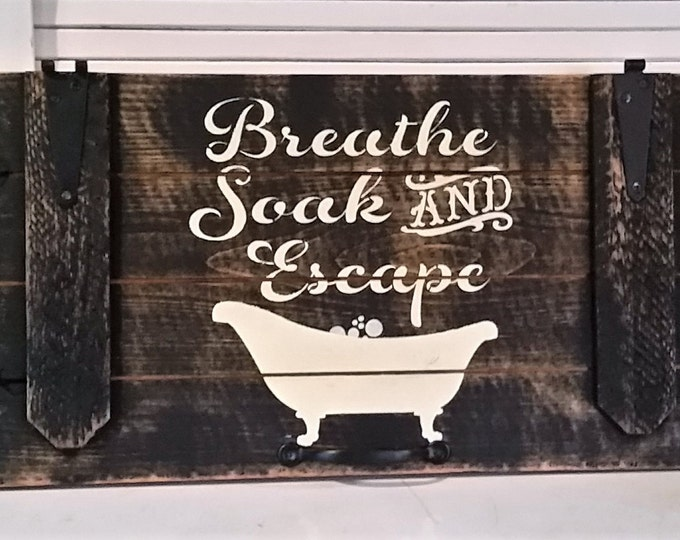 Primitive Door Bath Sign, Oh So cute!!