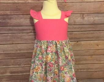 Toddler Easter Dress | Pink Flower Dress | Floral Dress | Baby Easter Dress