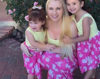 Mommy and Me Outfit | Mommy and Me Maxi Dress | Matching Mommy and Me | Mother Daughter Matching Dress | Matching Family Outfits
