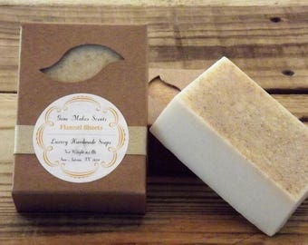 Flannel Sheets Luxury Handmade Soap 6.5 oz.