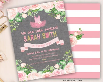 tutu birthday invitation, tutu first birthday invitation, tutu invitation, girl 1st birthday, pink tutu ballerina invite, 2nd 3rd, linen