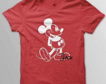 Disney shirt adult Mickey Mouse  shirt Mickey shirt