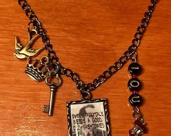BBC Sherlock Moriarty Nerdy Charm Necklace