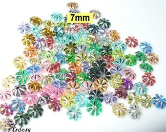 100 Acrylic floral blend 7x3mm (K650)