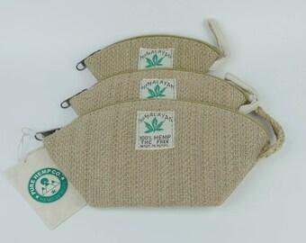 3 set Hemp pouch/ wallet/ coin purse