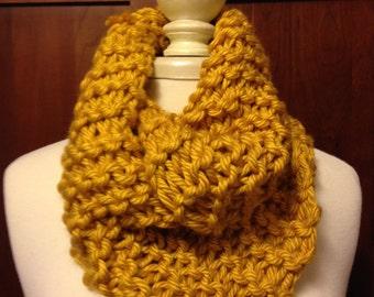 Fun Mustard Gold Knit Cowl