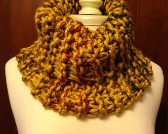 Gold-multi Knit Cowl