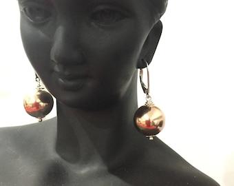 Rose goldfilled earrings