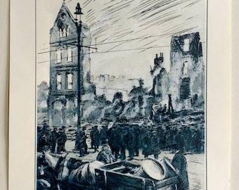 The Ruins SilkScreen Print by Ermis Art