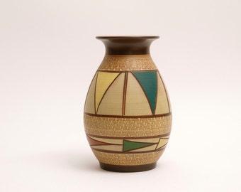 "Rare 1950s KULE KERAMIK Decor ""Roma"" W-Germany Handmade Studio Ceramic Mid Century"