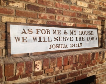 As for me and my house sign (Joshua 24:15)