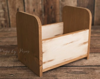 Newborn Photography Prop - 4-in-1 Wooden Newborn and Sitter Bed Prop, *FREE DOMESTIC SHIPPING*