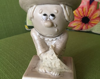 Vintage 70s Russ Berrie Co Sorry To See You Go Figurine