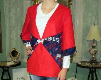 Patriots fleece cardigan