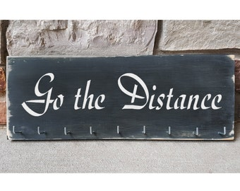 "Handmade Running Medal Hanger/Holder/Display ""Go the Distance"""