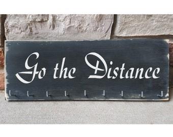"""Handmade Running Medal Hanger/Holder/Display """"Go the Distance"""""""