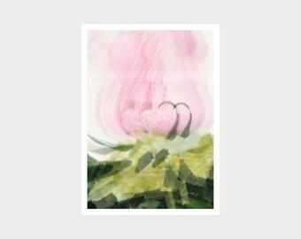 Print, Druck, Kunstdruck, Wall Art Print, Grafikdesign, wohnen, zu Hause, interior design, collage, flower, rosa, Blume