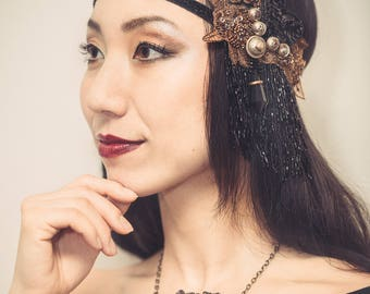 SALE 10% off Tribal fusion headdress 20's style -  tribal fusion headpiece