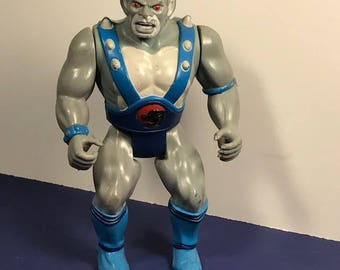 1986 THUNDERCATS ACTION FIGURE Panthro Ljn blue gray panther toy Lion O 100% original loose