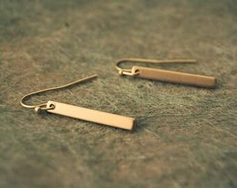 Pendants stick matt gold, black or silver