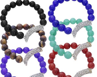 Italian Corno Bead Bracelet - choice of colour bead
