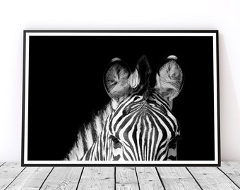 Large Wall Art, Safari Animal Wall Art, Animal Photography, Zebra Art, Zebra Wall Art, Black and White Photography, Zebra Poster Zebra Print