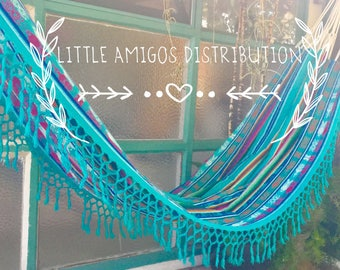 100% cotton woven double hammock
