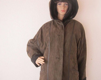 Vintage 80s Baronia by Golla jacket with hood over size M