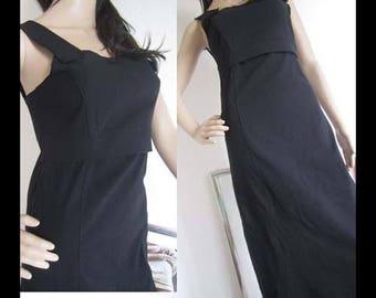 Vintage 80s dress b dress Maxi dress S