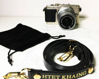 Avaloncraft | Skinny Camera Strap (Custom, Personalized, Handmade)