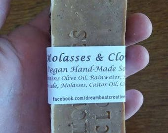 Vegan Olive Oil Soap with Molasses and Clove