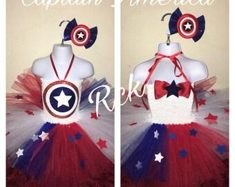 Captain America Tutu Dress