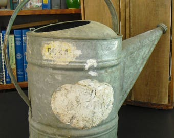 Vintage Galvanized 12 Quart Watering Can Pitcher, Metal Pitcher, Gardeners Supply, Garden Tool, Country Farmhouse Flower Vase, Watering Pot